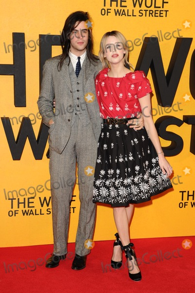 Peaches, Peaches Geldof, Thomas Cohen, Leicester Square Photo - Peaches Geldof and Thomas Cohen arriving for the UK Premiere of The Wolf Of Wall Street, Odeon Leicester Square, London. 09/01/2014 Picture by: Steve Vas / Featureflash