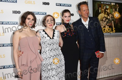 Allison Williams, Lena Dunham, Richard E Grant, Richard E. Grant, Zosia Mamet Photo - Zosia Mamet, Lena Dunham, Allison Williams, Richard E. Grant arriving for the Girls - UK premiere of the third series held at the Cineworld Haymarket - Arrivals, London. 15/01/2014 Picture by: Henry Harris / Featureflash