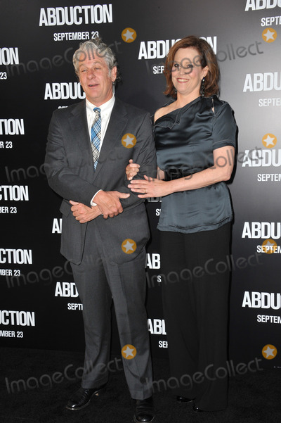 "Sigourney Weaver, Grauman's Chinese Theatre Photo - Sigourney Weaver & husband at the world premiere of her new movie ""Abduction"" at Grauman's Chinese Theatre, Hollywood.