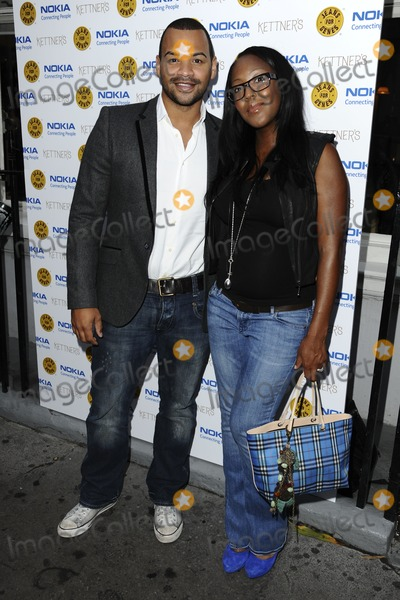 Angelica Bell, Michael Underwood, Michael Bublé, Michael Paré Photo - Michael Underwood and Angelica Bell arriving for the Jeans For Genes Launch Party, at Kettners, London. 06/09/2011  Picture by: Steve Vas / Featureflash