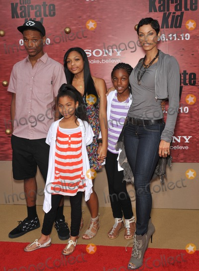 "Nicole Mitchell Murphy, NICOLE MITCHELL, Nicole Murphy Photo - Nicole Mitchell Murphy & family at the Los Angeles premiere of ""The Karate Kid"" at Mann Village Theatre, Westwood.