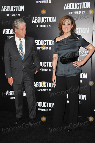 """Sigourney Weaver, Grauman's Chinese Theatre Photo - Sigourney Weaver & husband at the world premiere of her new movie """"Abduction"""" at Grauman's Chinese Theatre, Hollywood.September 15, 2011  Los Angeles, CAPicture: Paul Smith / Featureflash"""