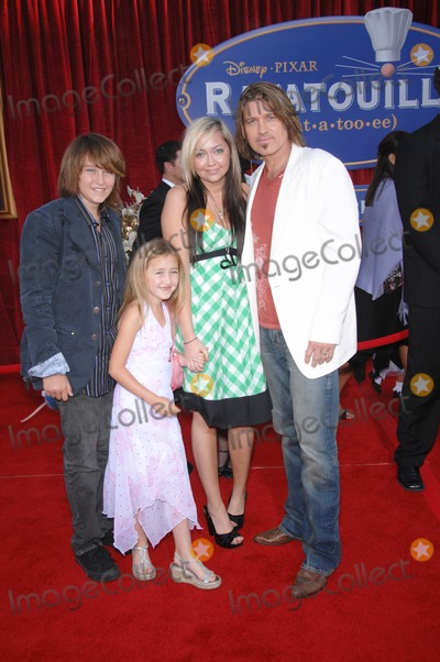 "Billy Ray, Billy Ray Cyrus, Cyrus Family Photo - Billy Ray Cyrus & family at the world premiere of ""Ratatouille"" at the Kodak Theatre, Hollywood.