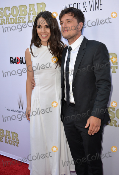 """Josh Hutcherson, Claudia Traisic Photo - Josh Hutcherson & Claudia Traisic at the Los Angeles premiere of their movie """"Escobar: Paradise Lost"""" at the Arclight Theatre, Hollywood. June 22, 2015  Los Angeles, CAPicture: Paul Smith / Featureflash"""