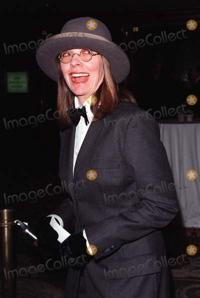 Diane Keaton, Sumner Redstone, The National Photo - 23APR98:  Actress DIANE KEATON at the National Conference of Christians & Jews Humanitarian Award dinner honoring Viacom chairman Sumner Redstone.