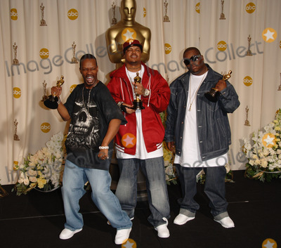 PAUL BEAUREGARD And CEDRIC COLEMAN Of THREE 6 MAFIA Winners Best Song For Its Hard Out Here A Pimp At The 78th Annual Academy Awards