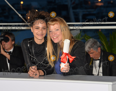 Andrea Arnold, Sasha, The Jury, Sasha Lane Photo - Director Andrea Arnold, winner of The Jury Prize for the film 'American Honey', & actress Sasha Lane at the winners' photocall at the 69th Festival de Cannes.
