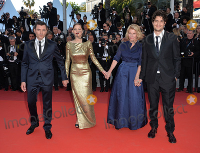 """Louis Garrel, Marion Cotillard, Nicole Garcia, Alex Brendemuhl Photo - Director Nicole Garcia & actors Alex Brendemuhl, Marion Cotillard & Louis Garrel at the gala premiere of """"From the Land of the Moon"""" (""""Mal de Pierres"""") at the 69th Festival de Cannes.May 15, 2016  Cannes, FrancePicture: Paul Smith / Featureflash"""