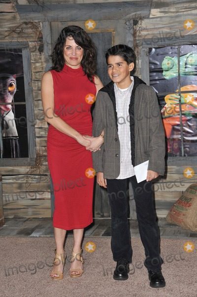 """Alana Ubach Photo - Alana Ubach & nephew Alex at the Los Angeles premiere of her new animated movie """"Rango"""" at the Regency Village Theatre, Westwood.February 14, 2011  Los Angeles, CAPicture: Paul Smith / Featureflash"""