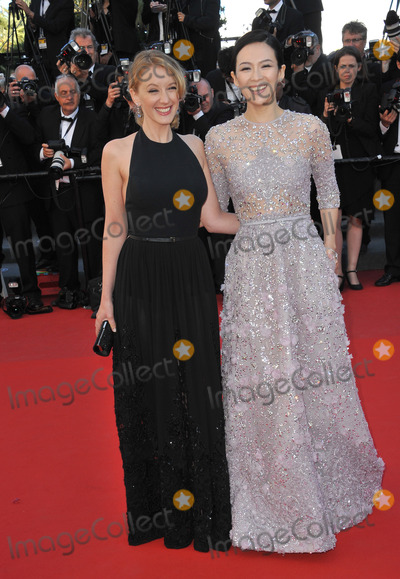 """Ludivine Sagnier, Zhang Ziyi, Zhang-Ziyi, Ludivine  Sagnier Photo - Ludivine Sagnier & Zhang Ziyi (right) at the gala premiere for """"Venus in Fur"""" in competition at the 66th Festival de Cannes.May 25, 2013  Cannes, FrancePicture: Paul Smith / Featureflash"""