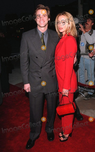 """Jim Carrey, Lauren Holly, Meg Ryan, Nicolas Cage, Hollies Photo - 08APR98:  Actor JIM CARREY reconciled with actress wife LAUREN HOLLY at the world premiere of """"City of Angels,"""" which stars Nicolas Cage & Meg Ryan."""