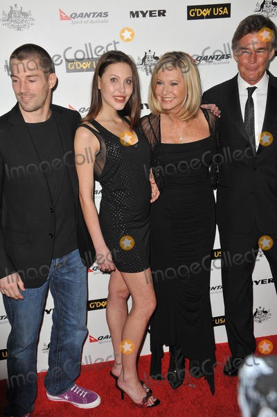 Chloe Lattanzi, James Driscoll, Olivia Newton-John Photo - Chloe Lattanzi & fianc James Driscoll (left) with her mother Olivia Newton-John & husband John Easterling at the 2011 G'Day USA Black Tie Gala at the Hollywood Palladium.