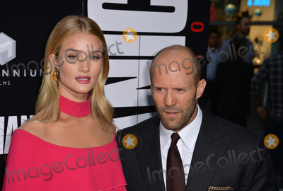 "Jason Statham, Rosie Huntington, Rosie Huntington Whiteley, Rosie Huntington-Whiteley Photo - LOS ANGELES, CA. August 22, 2016: Actor Jason Statham & girlfriend actress/model Rosie Huntington-Whiteley at the Los Angeles premiere of ""Mechanic: Resurrection"" at the Arclight Theatre, Hollywood.