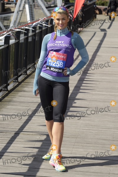 Amy Willerton Photo - Amy Willerton at the photocall for celebs running the 2014 London Marathon, London. 09/04/2014 Picture by: Steve Vas / Featureflash