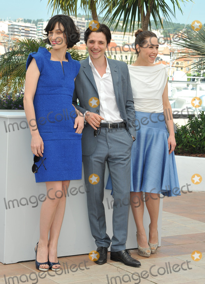 """Raphael Personnaz, Arta Dobroshi, Clotilde Hesme Photo - Clotilde Hesme (left), Raphael Personnaz & Arta Dobroshi at the photocall for their new movie """"Three Worlds"""" in competition at the 65th Festival de Cannes.May 25, 2012  Cannes, FrancePicture: Paul Smith / Featureflash"""