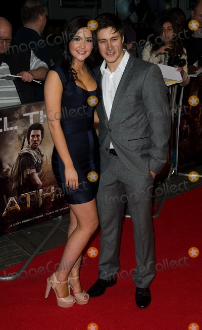 """Jacqueline Jossa, Tony Discipline Photo - Jacqueline Jossa and Tony Discipline arrives for premiere of """"Wrath of the Titans"""" at the IMAX Cinema, South Bank, London. 29/03/2012 Picture by: Simon Burchell / Featureflash"""