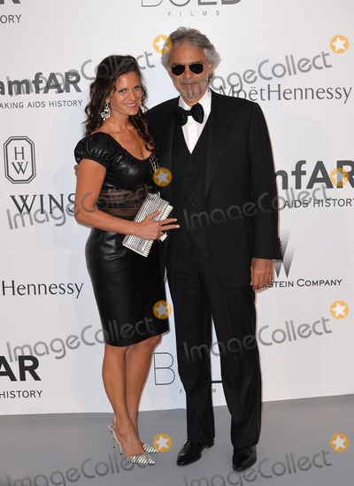 Andrea Bocelli Photo - Andrea Bocelli & wife at the 2015 amfAR Cinema Against AIDS gala at the Hotel du Cap d'Antibes, as part of the 68th Festival de Cannes.May 21, 2015  Antibes, FrancePicture: Paul Smith / Featureflash