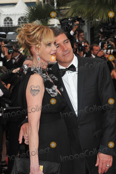 """Antonio Banderas, Melanie Griffith, Melanie Griffiths Photo - Antonio Banderas & Melanie Griffith at the gala premiere for """"Midnight in Paris"""" the opening film at the 64th Festival de Cannes.May 11, 2011  Cannes, FrancePicture: Paul Smith / Featureflash"""