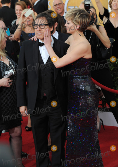 David O. Russell, Jennifer Lawrence, David O'Russell Photo - Jennifer Lawrence & director David O. Russell at the 20th Annual Screen Actors Guild Awards at the Shrine Auditorium.