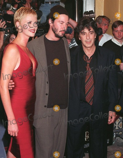 "Al Pacino, Charlize Theron, Keanu Reeves Photo - 13OCT97: Actors AL PACINO (right), KEANU REEVES & CHARLIZE THERON at the world premiere of their new movie, ""Devil's Advocate"" in Los Angeles."