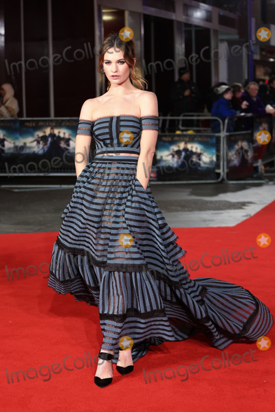 "Lily James, James Smith, Leicester Square Photo - Lily James at the European premiere for ""Pride and Prejudice and Zombies"" at the Vue West End, Leicester Square.