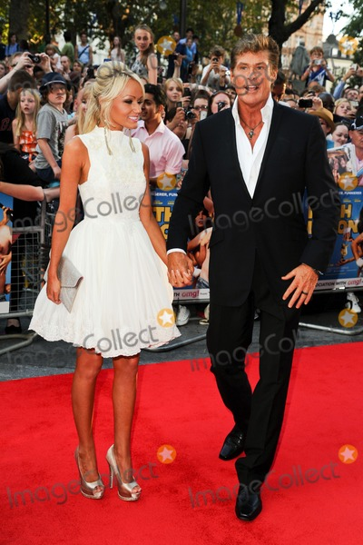 "David Hasselhoff, Keith Lemon, Hayley Roberts Photo - David Hasselhoff and Hayley Roberts arriving for the premiere of ""Keith Lemon: The Film"" at the Vue Cinema, Leicester Square, London. 21/08/2012. Picture by: Steve Vas / Featureflash"