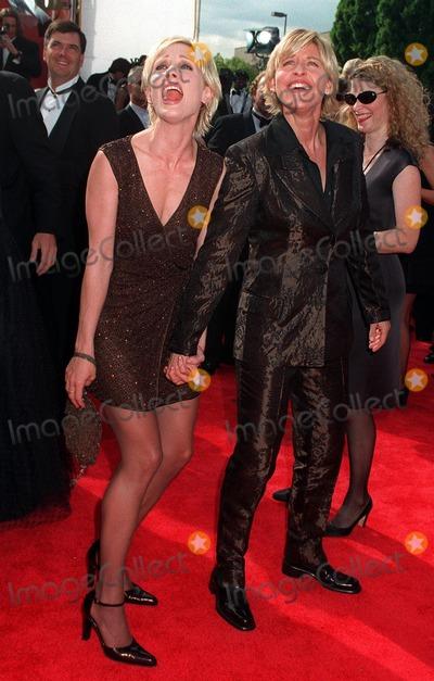 Anne Heche, Lover, Ann Heche Photo - 14SEP97:  ELLEN DEGENARES (right) & lover ANNE HECHE at the Emmy Awards in Pasadena.