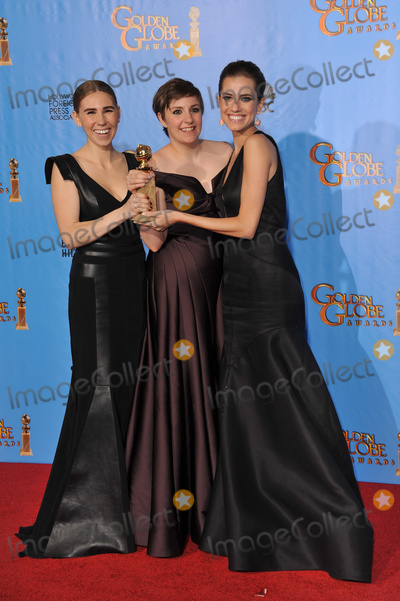 Lena Dunham, Zosia Mamet, Alison Williams Photo - Girls stars Zosia Mamet (left), Lena Dunham & Alison Williams at the 70th Golden Globe Awards at the Beverly Hilton Hotel.