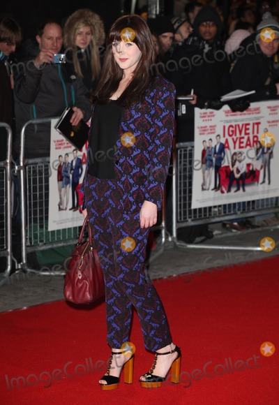 Alexandra Roach, Alexandra Roache, Leicester Square Photo - Alexandra Roach arriving for the 'I Give It A Year' premiere, at the Vue Leicester Square, London. 24/01/2013 Picture by: Alexandra Glen / Featureflash