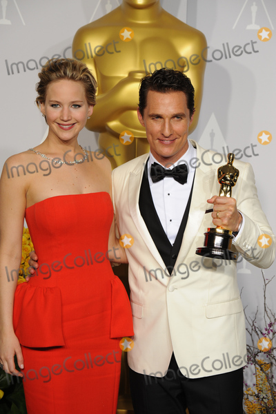 Jennifer Lawrence Photo - Matthew McConaughey & Jennifer Lawrence at the 86th Annual Academy Awards at the Dolby Theatre, Hollywood.March 2, 2014  Los Angeles, CAPicture: Paul Smith / Featureflash