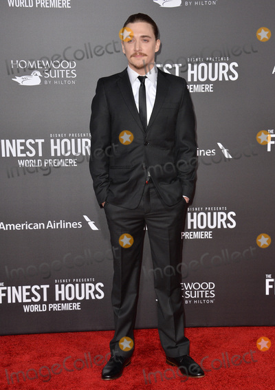 """Kyle Gallner, TCL Chinese Theatre Photo - Actor Kyle Gallner at the premiere of his movie """"The Finest Hours"""" at the TCL Chinese Theatre, Hollywood.January 25, 2016  Los Angeles, CAPicture: Paul Smith / Featureflash"""