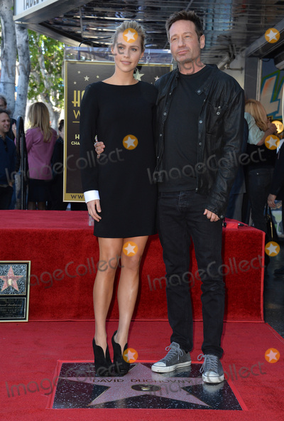 David Duchovny Photo - Actor David Duchovny & actress Claire Hoult on Hollywood Boulevard where he was honored with the 2,572nd star on the Hollywood Walk of Fame.January 25, 2016  Los Angeles, CAPicture: Paul Smith / Featureflash