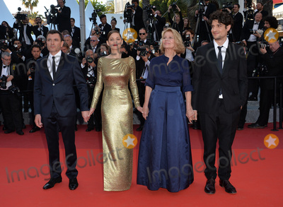 "Louis Garrel, Marion Cotillard, Nicole Garcia, Alex Brendemuhl Photo - Director Nicole Garcia & actors Alex Brendemuhl, Marion Cotillard & Louis Garrel at the gala premiere of ""From the Land of the Moon"" (""Mal de Pierres"") at the 69th Festival de Cannes.