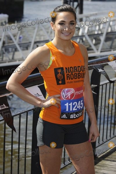 Laura Wright Photo - Laura Wright at the photocall for celebs running the 2014 London Marathon, London. 09/04/2014 Picture by: Steve Vas / Featureflash