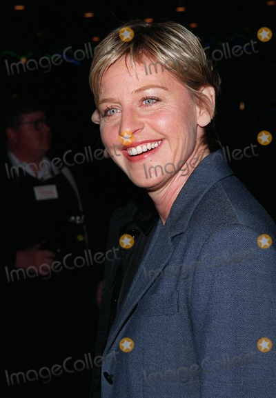 "Photo - 12MAR98:  Comedienne ELLEN DEGENARES at the world premiere of ""Primary Colors,"" in Hollywood."