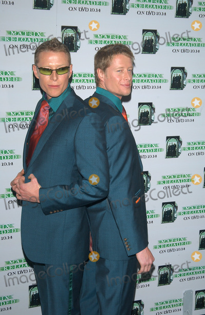 Adrian Rayment, Neil Rayment, The Matrix Photo - ADRIAN (left) & NEIL RAYMENT at the launch party, in Los Angeles, for the DVD release of The Matrix Reloaded.Oct 8, 2003 Paul Smith / Featureflash