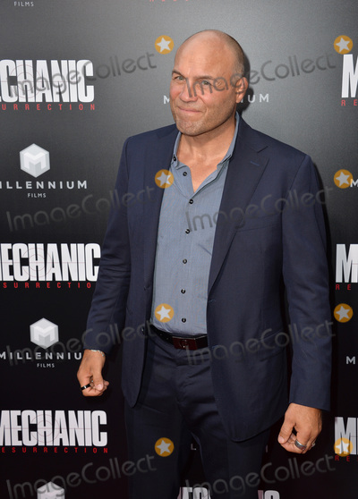 "Randy Couture Photo - LOS ANGELES, CA. August 22, 2016: Actor Randy Couture at the Los Angeles premiere of ""Mechanic: Resurrection"" at the Arclight Theatre, Hollywood.