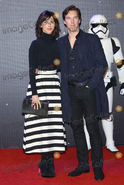 """Benedict Cumberbatch, Sophie Hunter, James Smith, Leicester Square Photo - Sophie Hunter & Benedict Cumberbatch at the European premiere of """"Star Wars: The Force Awakens"""" in Leicester Square, London. December 16, 2015  London, UKPicture: James Smith / Featureflash"""