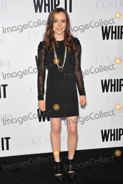 """Ellen Page, Grauman's Chinese Theatre Photo - Ellen Page at the Los Angeles premiere of her new movie """"Whip It"""" at Grauman's Chinese Theatre, Hollywood. September 29, 2009  Los Angeles, CAPicture: Paul Smith / Featureflash"""