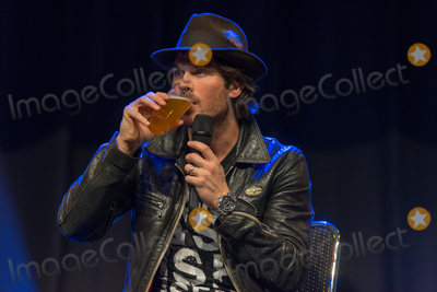 Ian Somerhalder, Vampire Diaries Photo - BONN, GERMANY - MARCH 24: Actor Ian Somerhalder (The Vampire Diaries, LOST, Smallville), drinking german beer at MagicCon, a three-day (March 23-25 2018) fantasy & mystery fan convention.