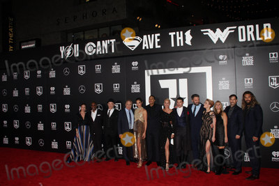 """Amber Heard, Ben Affleck, Connie Nielsen, Diane Lane, Gal Gadot, Henry Cavill, J K Simmons, J. K. Simmons, J.K. Simmons, Jason Momoa, Joe Morton, Ezra Miller, JK Simmons, Ray Fisher, Jason Mamoa, J.K Simmons Photo - Diane Lane, Joe Morton, J.K. Simmons, Gal Gadot, Ray Fisher, Connie Nielsen, Ezra Miller, Jason Momoa, Ben Affleck, Amber Heard, Jason Mamoa, Henry Cavill 11/13/2017 The World Premiere of """"Justice League"""" held at The Dolby Theater in Hollywood, CA Photo by Izumi Hasegawa / HollywoodNewsWire.co"""