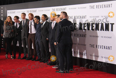 """Alejandro Gonzalez Inarritu, Doves, Tom Hardy, DOMHNALL GLEESON, TCL Chinese Theatre, Grace Dove Photo - Domhnall Gleeson, Tom Hardy, Grace Dove, Leonardo DiCaprio, Alejandro Gonzalez Inarritu 12/16/2015 """"The Revenant"""" Premiere held at the TCL Chinese Theatre in Hollywood, CA Photo by Kazuki Hirata / HollywoodNewsWire.net"""