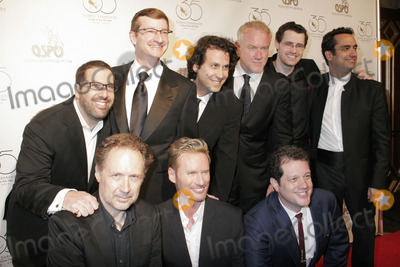 """Brian Tyler, John Debney, Michael Giacchino, Austin Wintory Photo - Chris Lennertz, Robert Townson, Cliff Eidelson, John Debney, Austin Wintory, Diego Navarro, Brian Tyler, Michael Giacchino                                                                                                                                  05/11/2013 Varse Sarabande 35 Years of Film Music with Star Studded Anniversary"""" Concert and Art Exhibit held at Warner Grand Theatre in San Pedro, CA Photo by Yoko Maegawa /HollywoodNewsWire.net"""