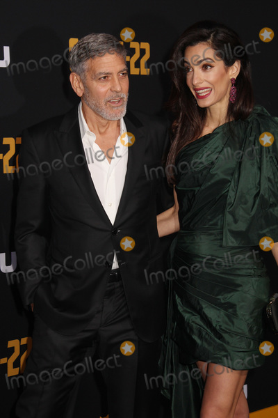 """George Clooney, TCL Chinese Theatre, Amal Clooney Photo - George Clooney, Amal Clooney 05/07/2019 The U.S. Premiere of Hulu's """"CATCH-22"""" held at The TCL Chinese Theatre in Los Angeles, CA Photo by Izumi Hasegawa / HollywoodNewsWire.co"""