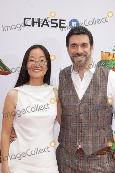 """Jennifer Yuh, TCL Chinese Theatre, Alessandro Carloni Photo - Jennifer Yuh Nelson, Alessandro Carloni 01/16/2016 The World Premiere of """"Kung Fu Panda 3"""" held at TCL Chinese Theatre inHollywood, CA Photo by Izumi Hasegawa / HollywoodNewsWire.net"""