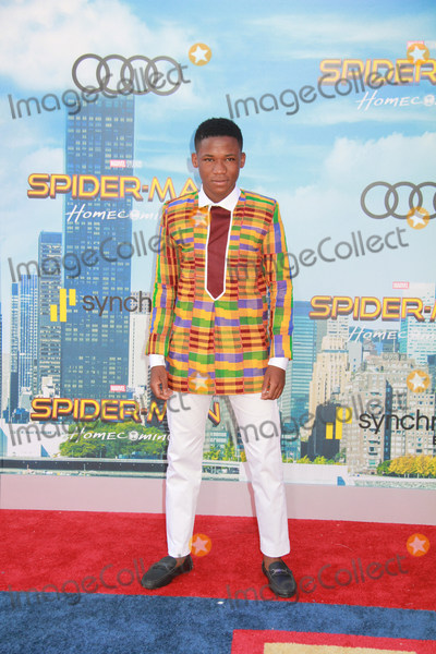 """Spider Man, Spider-Man, Spiderman, TCL Chinese Theatre, Abraham Attah Photo - Abraham Attah 06/28/2017 The World Premiere of """"Spider-Man: Homecoming"""" held at the TCL Chinese Theatre in Los Angeles, CA Photo by Izumi Hasegawa / HollywoodNewsWire.co"""