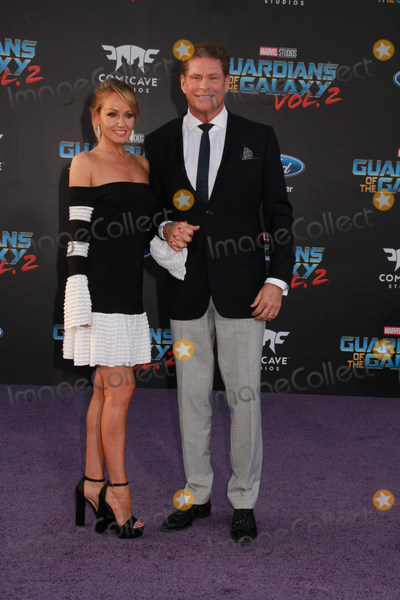 """David Hasselhoff, Hayley Roberts Photo - Hayley Roberts, David Hasselhoff 04/19/2017 The World Premiere of """"Guardians of the Galaxy Vol.2"""" held at The Dolby Theatre in Hollywood, CA Photo by Izumi Hasegawa / HollywoodNewsWire.co"""