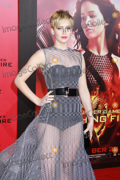 """Jennifer Lawrence Photo - Jennifer Lawrence 11/18/2013 """"The Hunger Games: Catching Fire"""" Premiere held at the Nokia Theatre L.A. Live in Los Angeles, CA Photo by Kazuki Hirata / HollywoodNewsWire.net"""
