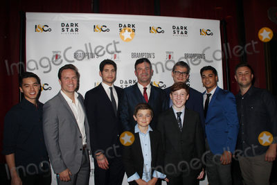 """James Scott, Scott Porter, Alex Russell, Carter Hastings, Michael Doneger Photo - Carlin James, Scott Porter, Michael Doneger, Kevin Linehan, Alex Russell, Felnando Vega, Carter Hastings 10/17/2018 The Los Angeles premiere of """"Brampton's Own"""" held at Laemmle Fine Arts in Beverly Hills, CA Photo by Hiro Katoh / HollywoodNewsWire.co"""