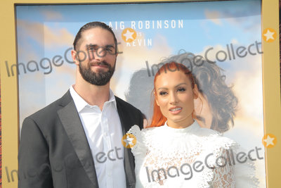 """Becky Lynch Photo - Seth Rollins, Becky Lynch 01/11/2020 The Premiere of """"Dolittle"""" held at The Regency Village Theatre in Los Angeles, CA Photo by Izumi Hasegawa / HollywoodNewsWire.co"""